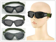 Airsoft Tactical Airsoft Hunting Sand Metal Mesh Goggles Glasses Black/FG/OD