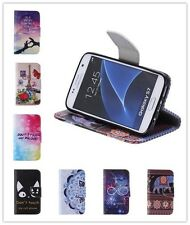 Fashion Flip Card Slot Kickstand  Leather Phone Case Cover For Samsung Galaxy