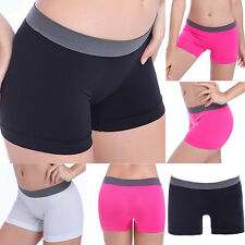 New Women Summer Pants Shorts Gym Workout Waistband Skinny Yoga Shorts Pants