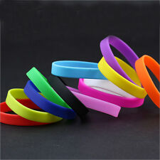 Sports Unisex Rubber Silicone Wristbands Bracelets Bangle Cuff Bands