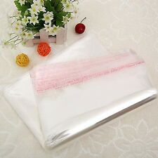 8 sizes Transparent Clear Seal Pack Self-adhesive Sticker Plastic Poly Bags Hot