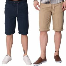 Loyalty & Faith Designer Mens Summer Cotton Elasticated Knee Length Twill Shorts