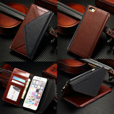 Luxury Card slot Leather Wallet Case Flip Cover For Apple iPhone 5 5S SE 6S Plus
