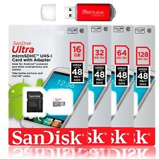 SanDisk Ultra 8GB 16GB 32GB 64GB microSD SDHC Class 10 SD Flash Memory Card Lot