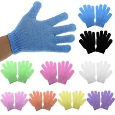 1 Pair Exfoliating Bath Glove Shower Skin Care Scrubber Massage Clean Gloves Hot