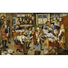 1616 Pieter Bruegel The Younger The Tax Collector's Office Painting Art Poster