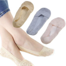 1Pair Women Lace Cotton Socks Anti skid Invisible Short Ankle Boat Low Socks Hot