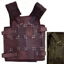 LARP Ready For Battle Leather Fighter Armour - Black Or Brown - Ideal For Events