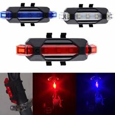 USB Rechargeable 4 Modes Bike Bicycle Cycling Front Rear Tail Light LED Lamp New