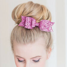 Cute Women Sequins Big Bow Knot Barrette Hairpin Hair Clip Baby Girl Hair Tiara