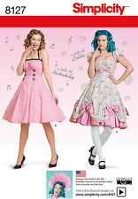 Vintage Retro Simplicity Sewing Pattern 8127 Lolita and Rockabilly Misses Dress