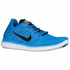 NIKE FREE RN FLYKNIT 2016 PHOTO BLUE BLACK MENS RUNNING SHOES **ALL SIZES
