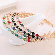 1pcs Women Crystal Rhinestone Bead Headband Hair Band Beautiful