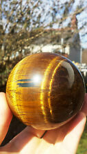 Natural S. African Tiger's Eye Hand Carved & Polished Crystal Sphere Ball 719g
