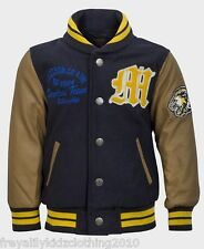 Boys Soul and Glory baseball jacket/ Cardigan in Blue age 3-4 up to 7-8 yrs
