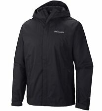 New Columbia mens waterproof Omni Tech hooded rain jacket Black Big Tall 3X 3XT