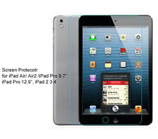 Regular Ultra Clear/Tempered Glass Screen Protector For iPad