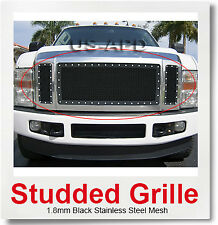 Fits Ford F250/F350/F450 XLT Lariat King Ranch Black Rivet Grille 2008-2010