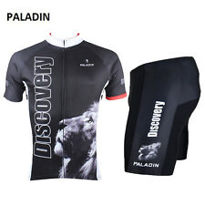 Discovery Lion Black Team Bike Cycling Jersey Sets Sportswear Riding Clothing