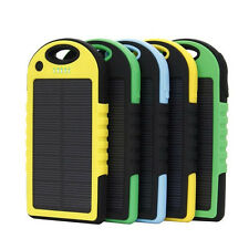 5000mAh USB Solar Panel Power Bank Charger External Battery Pack Mobile Phones