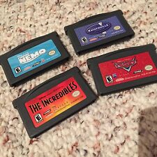 *Lot Of 4-TESTED* DISNEY - CARS, NEMO, INCREDIBLES + GAMEBOY ADVANCE GBA GAME 14