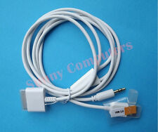 Dock Connector To Aux 3.5mm Car Audio Cable for iPad 2 3 iPod iPhone 4S 4 3GS