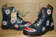 DR MARTENS Pascal Navy/White/Red Rub Off Leather Boots New US Women's 9 / UK 7