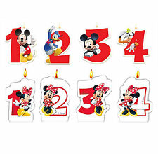 Disney Mickey & Minnie Mouse Age Number Candles 1st 2nd 3rd 4th birthday cake