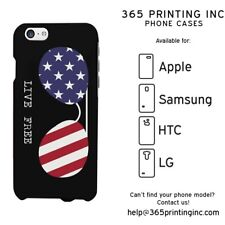 Live Free American Flag Sunglasses Phone Case for iphone 4 5 5C S3 S4 S5 Note 4