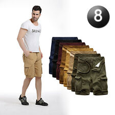 Casual Mens Summer Cotton Work Army Camo Combat Cargo Shorts Pants Trousers 1/2