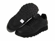 REEBOK CLASSIC LEATHER LIFESTYLE WOMENS BLACK SHOES **FREE POST AUSTRALIA