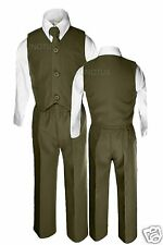 Baby Boy Toddler Wedding Formal Party Vest Suit Olive Green 12M 18M 24M 2T 3T 4T