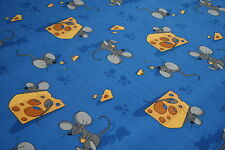 Blue Mouse Trap Childrens Carpet Kids Animal Mouse Cheese Playroom Bedroom 4mt