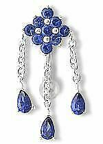"""14g 7/16"""" Top Down Gem Diamond Belly Ring with 3 Charm Gem Drops"""