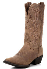 LADIES JUSTIN STAMPEDE TAN PUMA COW COWGIRL BOOTS L2561~ NIB~ SALE!