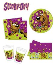 Scooby Doo Birthday Party Decoration Tableware Plates Cups Napkins Tablecloth
