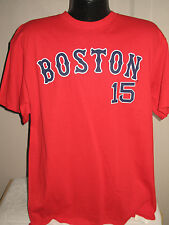 MLB Boston Red Sox Baseball Dustin Pedroia #15 Jersey T Shirt Mens Sizes Red Nwt