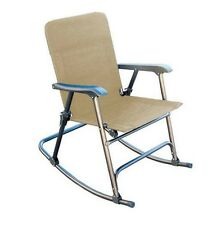 New Camping Beach Prime Products Elite Folding Rocker Tan Outdoor Seats Chair S
