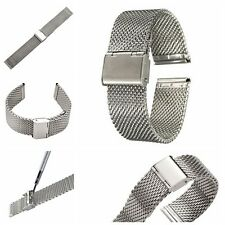 Hot Stainless Steel Bracelet Strap Watch Mesh Replacement Band 18 20 22 24 mm