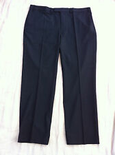 Mens New ex M&S Charcoal Wool Blend Flat Front Pinstripe Trousers Size W32-42""