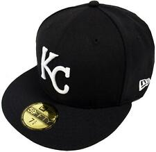 New Era MLB Kansas City Royals Black White 59fifty Fitted Cap Limited Edition