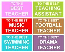 Personalised Teacher Chocolate Bar Wrapper ** End of Term, Thank You, etc **