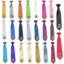 Stain Solid 23 Color Clip-on Sailor Bear Necktie Boys Formal Suits Newborn - 7