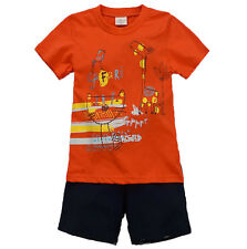 New!Short Sleeves Baby&Toddler Kids Boy Orange Pajama Set Clothing Cat & Giraffe