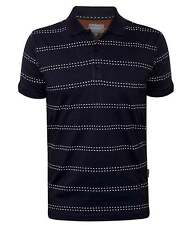 Peter Werth Elsworth Mens Navy Short-Sleeved Polo Shirt