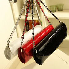 New Fashion Faux Patent Leather Evening Party Bag Clutch Purse Women Handbag