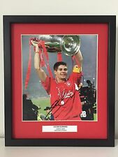 RARE Steven Gerrard Liverpool Signed Photo Display + COA + FRAMED AUTOGRAPH 2005