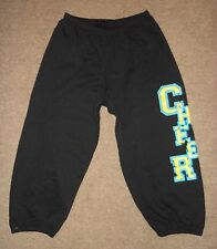 NEW Motionwear Black Blue Cheer Cheerleading Capri Sweat Pants 6317 Adult Medium