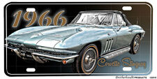 1966 Chevrolet Corvette Stingray Convertible Aluminum License Plate