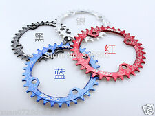 bicycle oval chainring 104bcd single speed 32/34/36/38T MTB narrow wide plato